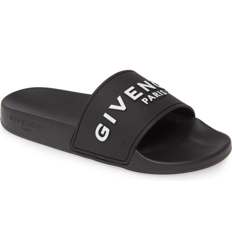 GIVENCHY Logo Slide, Main, color, BLACK/ WHITE