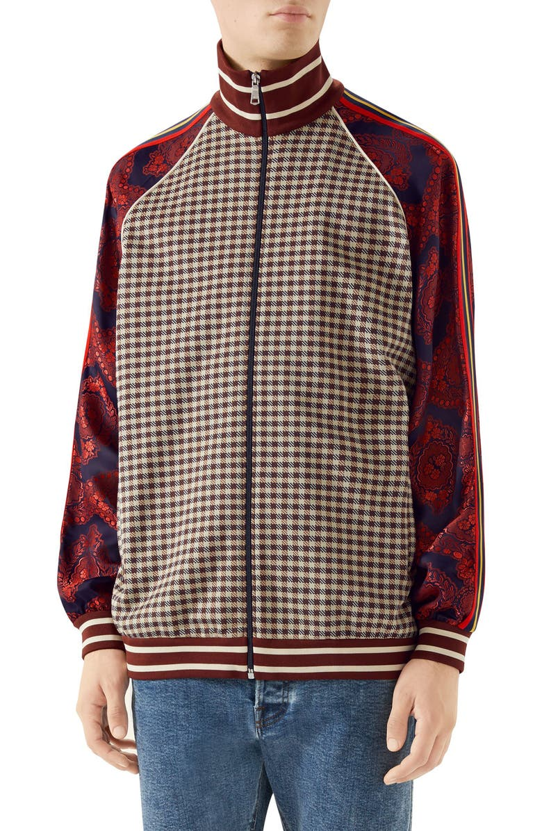 GUCCI Mixed Material Track Jacket, Main, color, 204