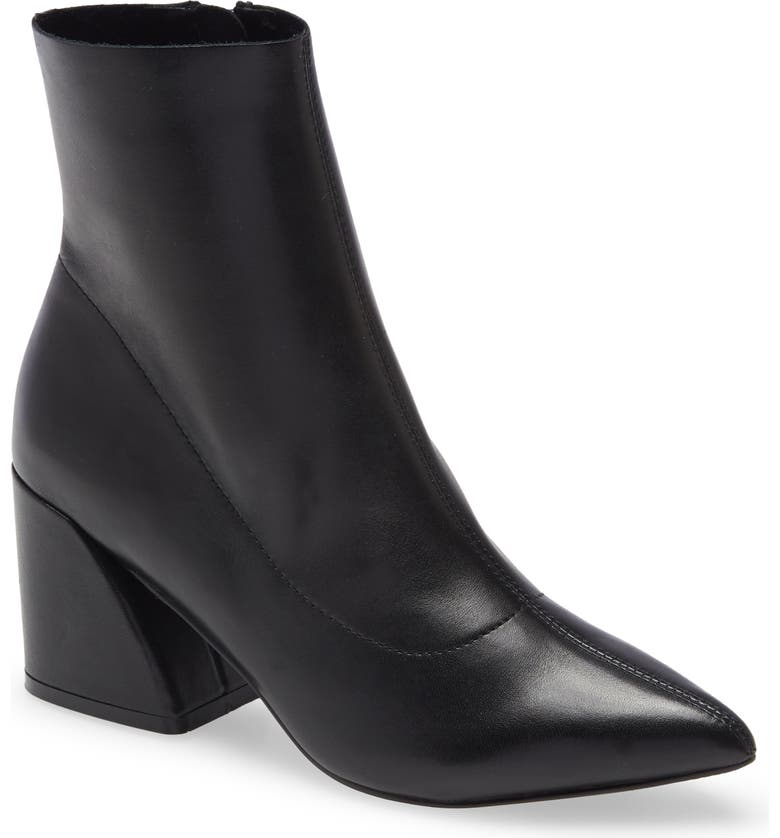 STEVE MADDEN Edith Bootie, Main, color, BLACK LEATHER