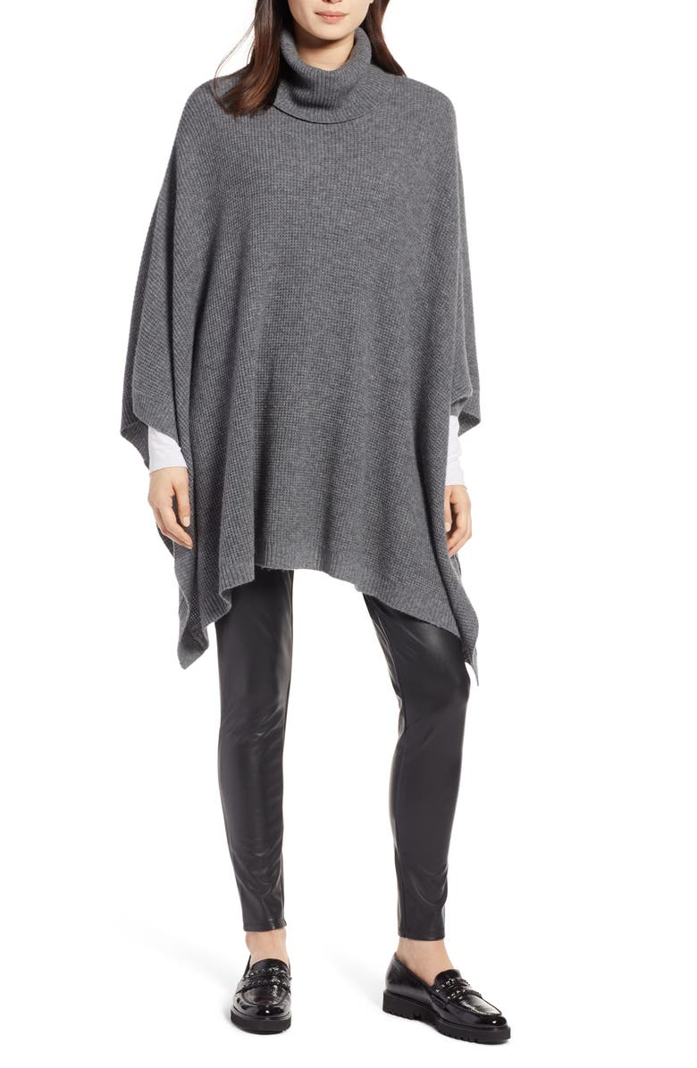 HALOGEN<SUP>®</SUP> Wool & Cashmere Poncho, Main, color, 022