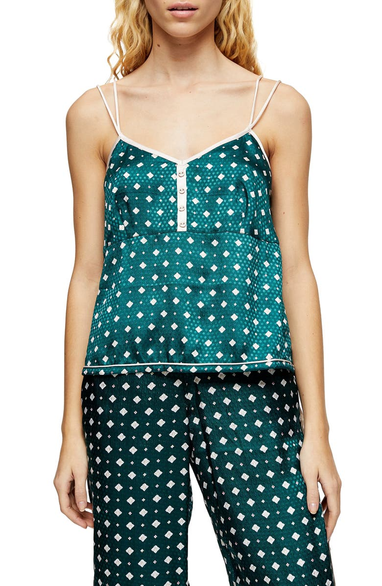 TOPSHOP Jacquard Sleep Camisole, Main, color, 300