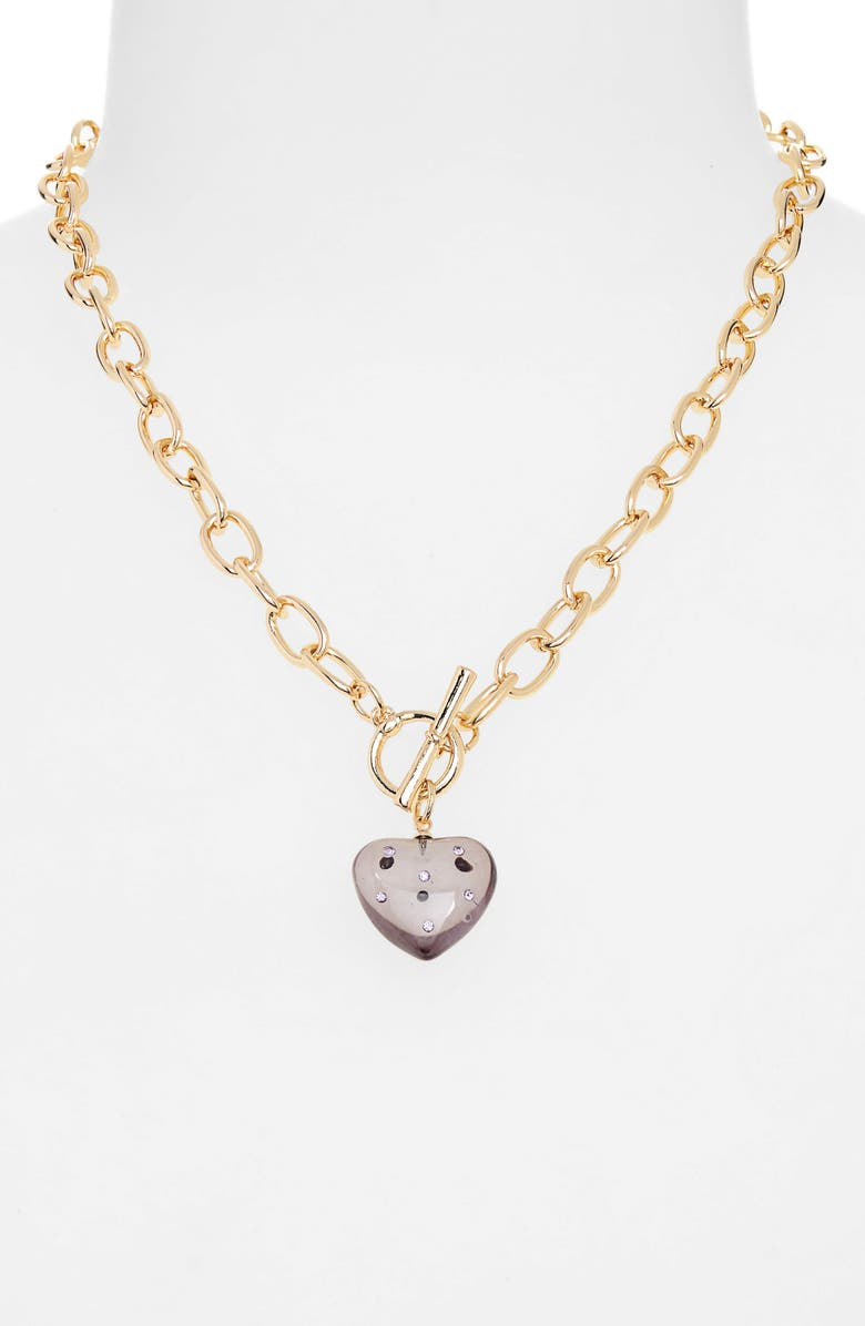 BP. Resin Heart Toggle Necklace, Main, color, 501
