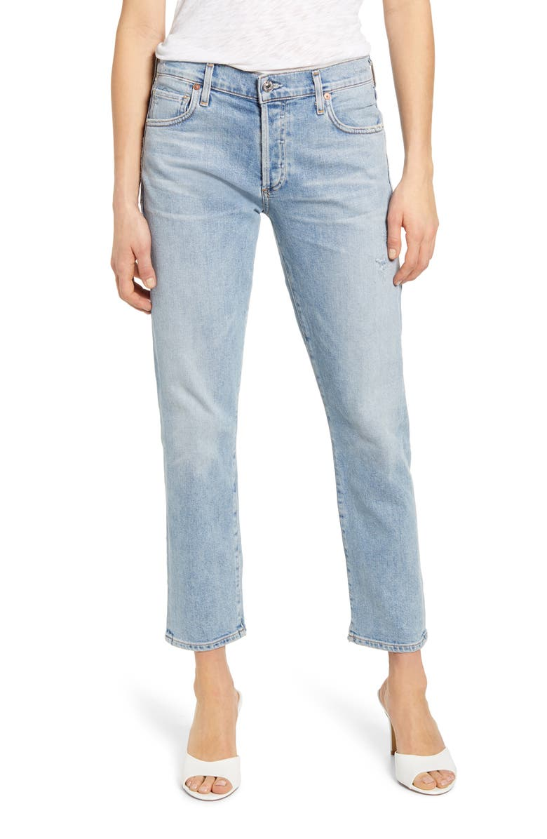 CITIZENS OF HUMANITY Emerson High Waist Slim Boyfriend Jeans, Main, color, 458