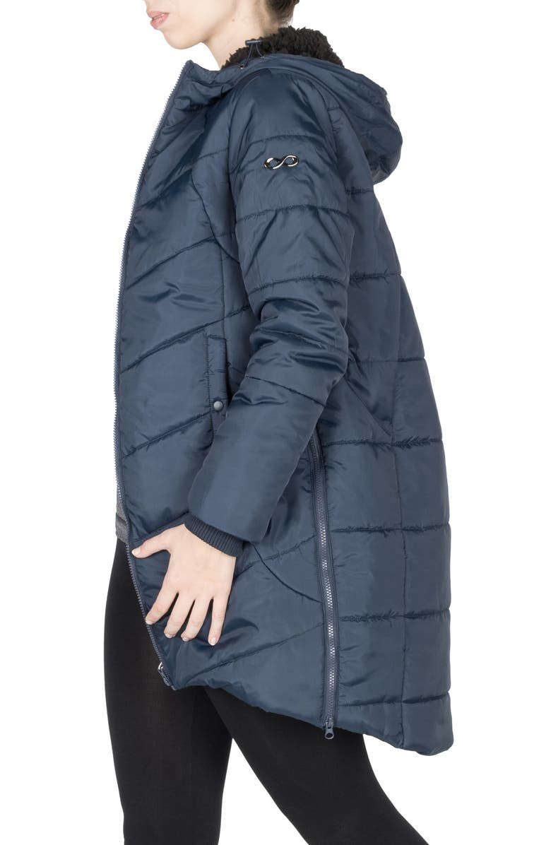 MODERN ETERNITY 3-in-1 Maternity Puffer Jacket, Main, color, NAVY