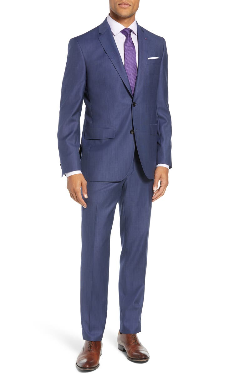TED BAKER LONDON Jay Trim Fit Solid Wool Suit, Main, color, 400