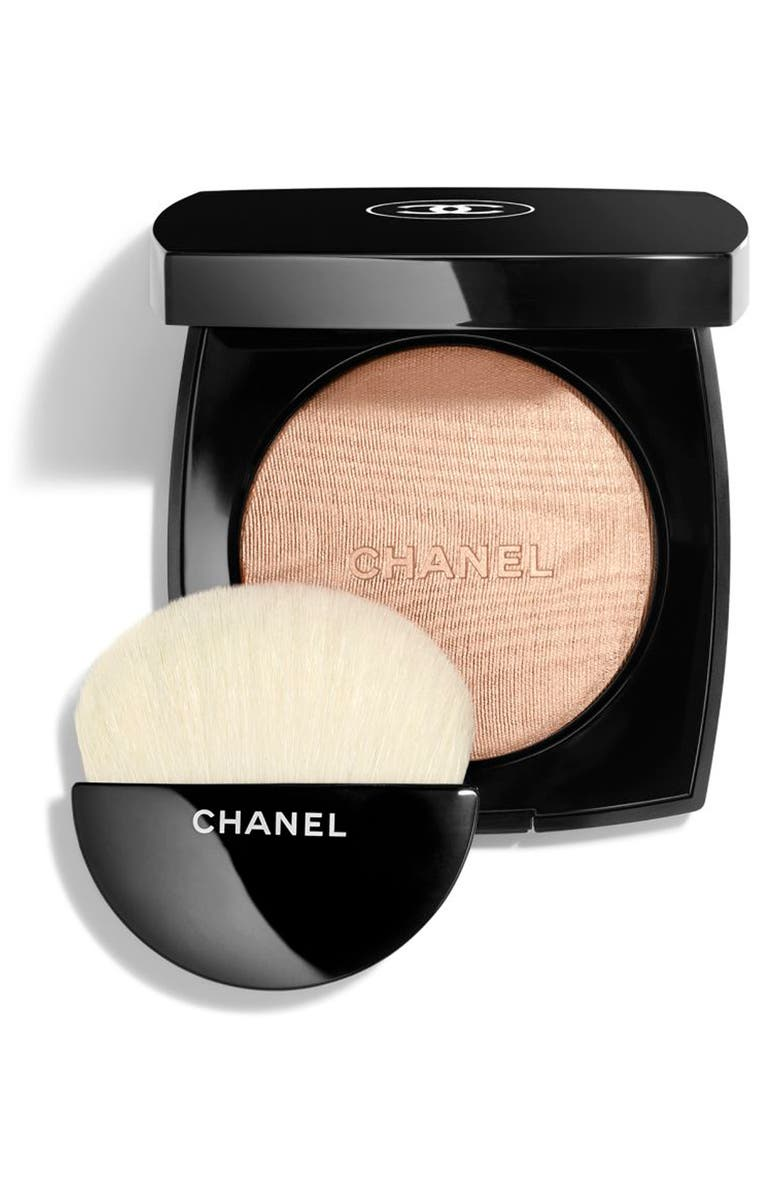 CHANEL HIGHLIGHTING <br />Powder Compact, Main, color, 10 IVORY GOLD