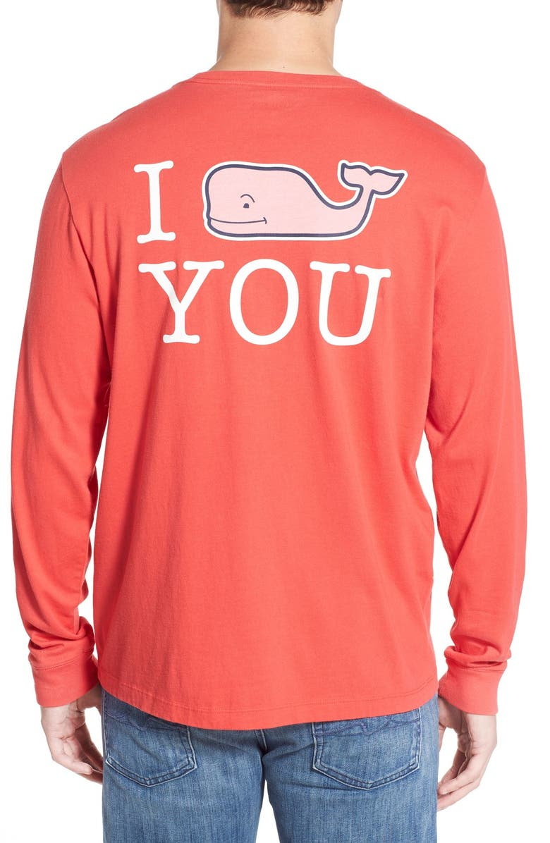 VINEYARD VINES 'I Whale You' Long Sleeve Graphic T-Shirt, Main, color, 600