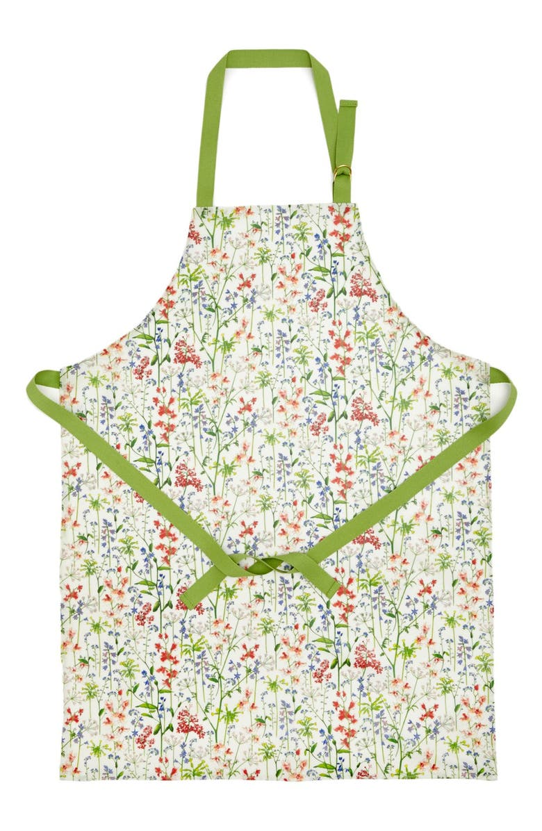 FLOWERS OF LIBERTY Floral Print Apron, Main, color, 110