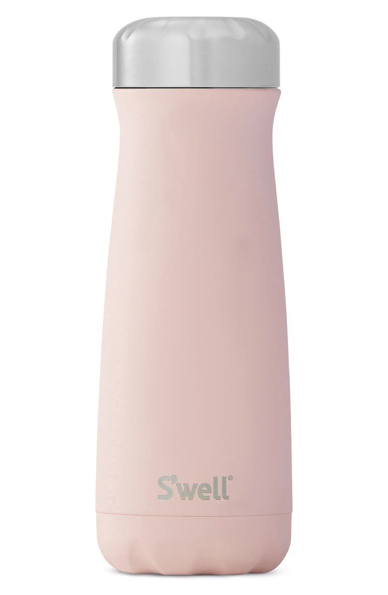 S'WELL Traveler Pink Topaz 20-Ounce Insulated Stainless Steel Water Bottle, Main, color, PINK TOPAZ
