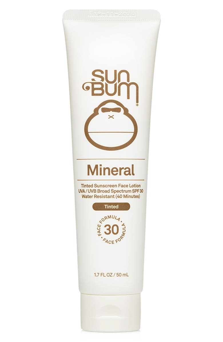 SUN BUM Mineral SPF 30 Sunscreen Tinted Face Lotion - 1.7 oz., Main, color, NO COLOR