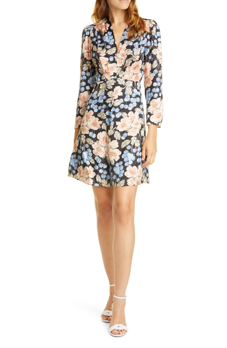 REBECCA TAYLOR Rose Long Sleeve Minidress, Main, color, 014