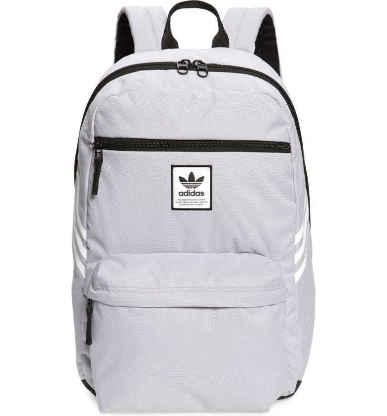 ADIDAS ORIGINALS National SST Backpack, Main, color, GLORY GREY/ WHITE