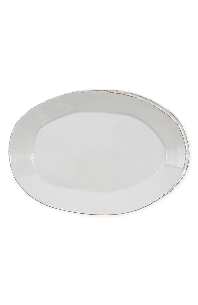 VIETRI Lastra Oval Platter, Main, color, LIGHT GRAY