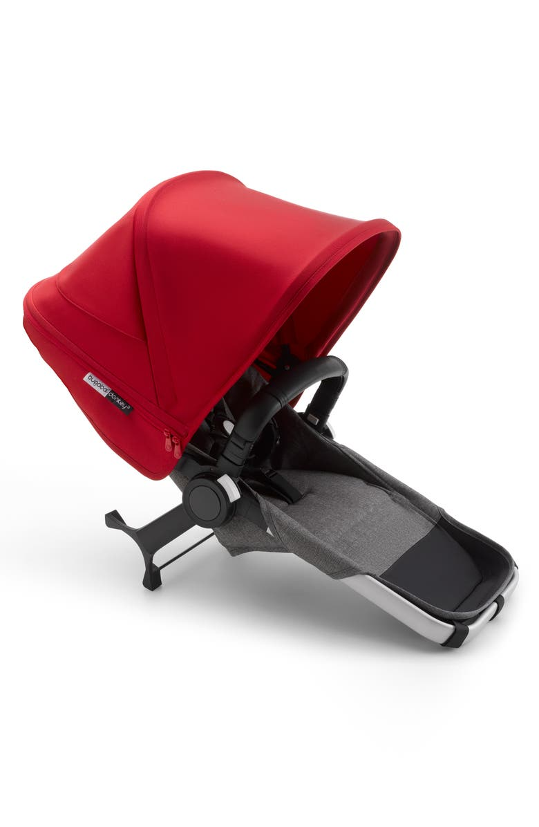 BUGABOO Donkey3 Complete Duo Extension Set, Main, color, ALU/ GREY MELANGE-RED