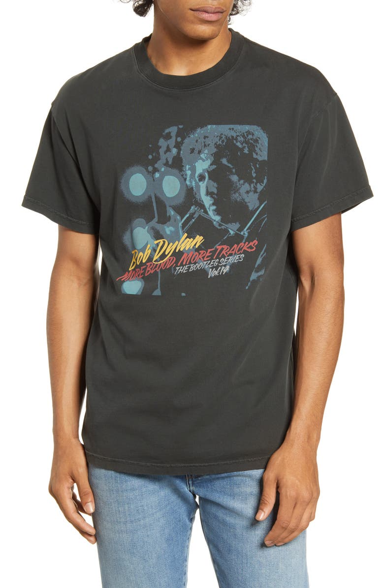 BARKING IRONS x Bob Dylan Rolling Thunder More Blood More Tracks Graphic T-Shirt, Main, color, 010