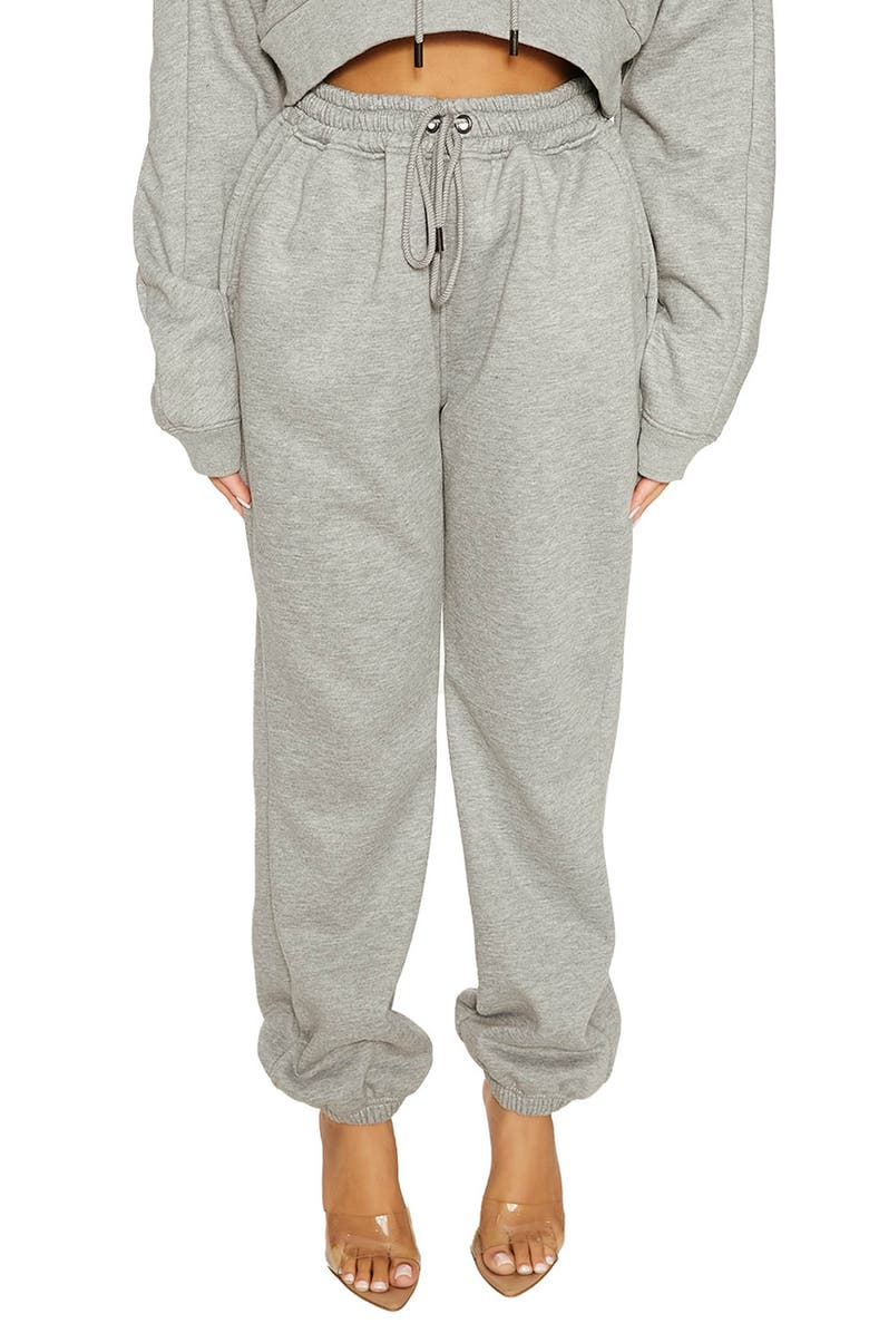NAKED WARDROBE Don't Sweat it Baby Joggers, Main, color, HEATHER GREY