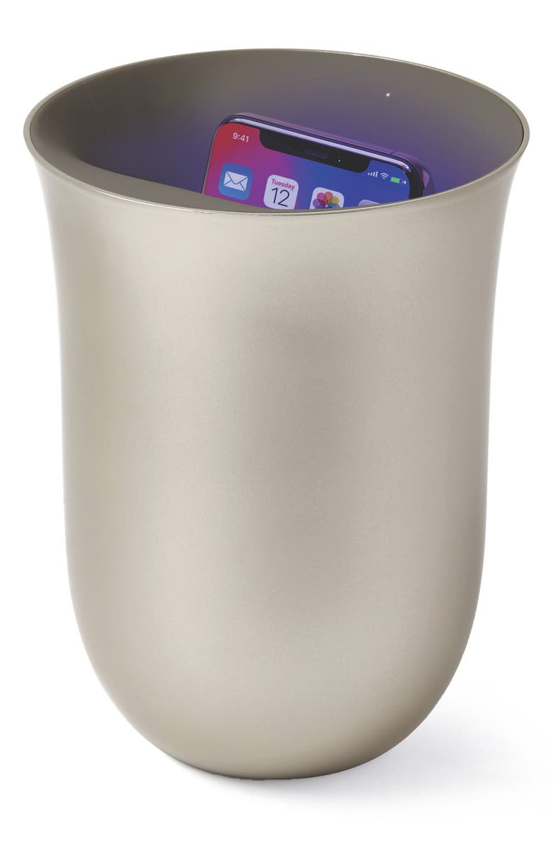 LEXON Oblio Wireless Charger & UV Cleaner, Main, color, GOLD