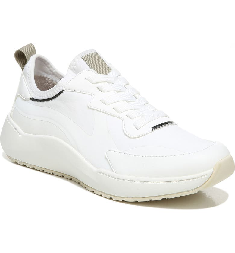 DR. SCHOLL'S Hold Up Sneaker, Main, color, WHITE FAUX LEATHER