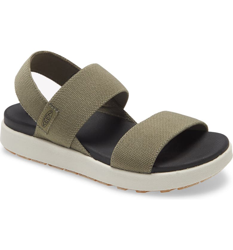 KEEN Elle Webbing Strap Sandal, Main, color, DUSTY OLIVE FABRIC