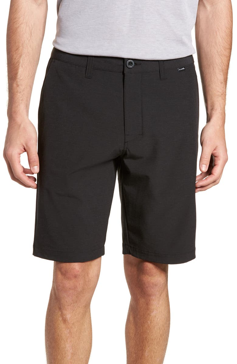 TRAVISMATHEW Beck Stretch Performance Shorts, Main, color, BLACK
