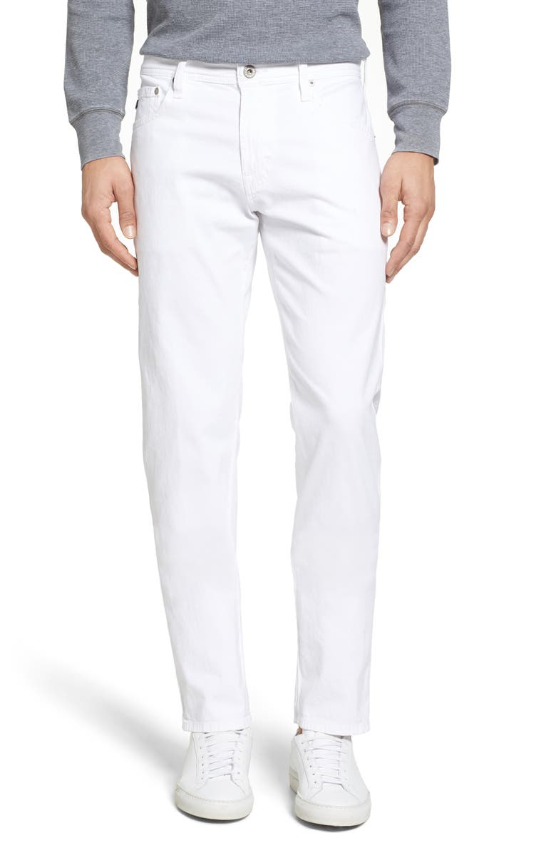 AG Tellis SUD Modern Slim Fit Stretch Twill Pants, Main, color, WHITE