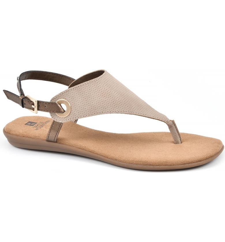 WHITE MOUNTAIN London T-Strap Sandal, Main, color, TAUPE / HC SMOOTH