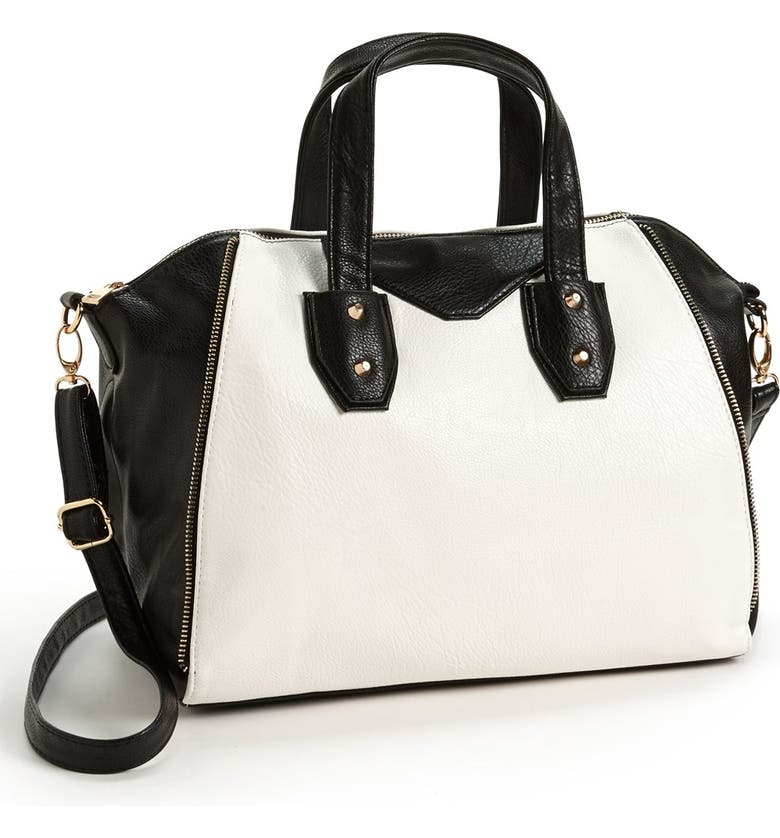 UNDER ONE SKY Two-Tone Satchel, Main, color, 001