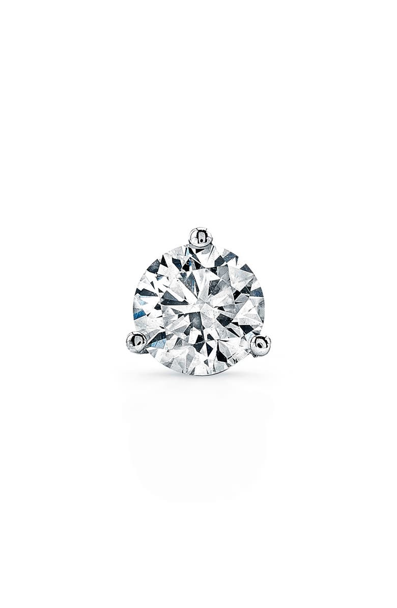 BONY LEVY Single Diamond Stud Earring, Main, color, WHITE GOLD