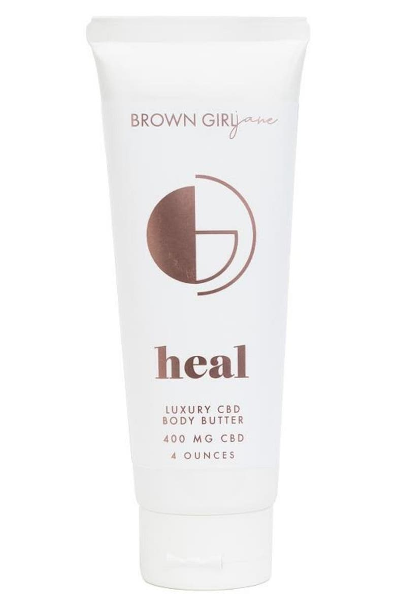 BROWN GIRL JANE Heal Whipped CBD Body Butter, Main, color, WHITE