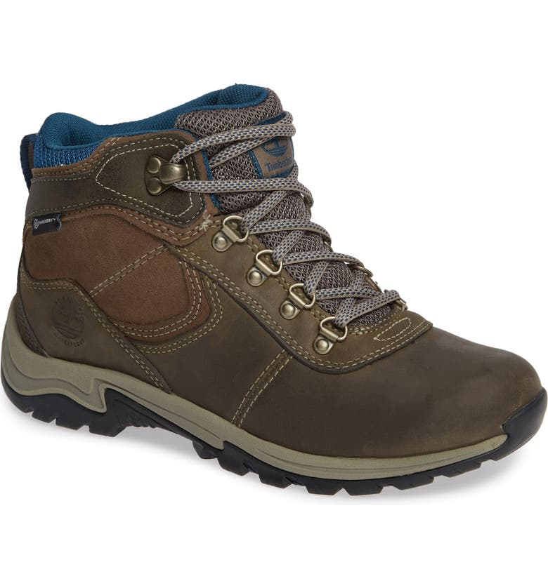 TIMBERLAND Mt. Maddsen Waterproof Hiking Boot, Main, color, GREY LEATHER