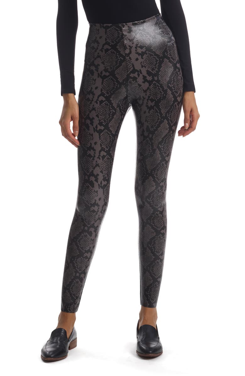 COMMANDO Reptile Embossed Faux Leather Leggings, Main, color, GRAY SNAKE