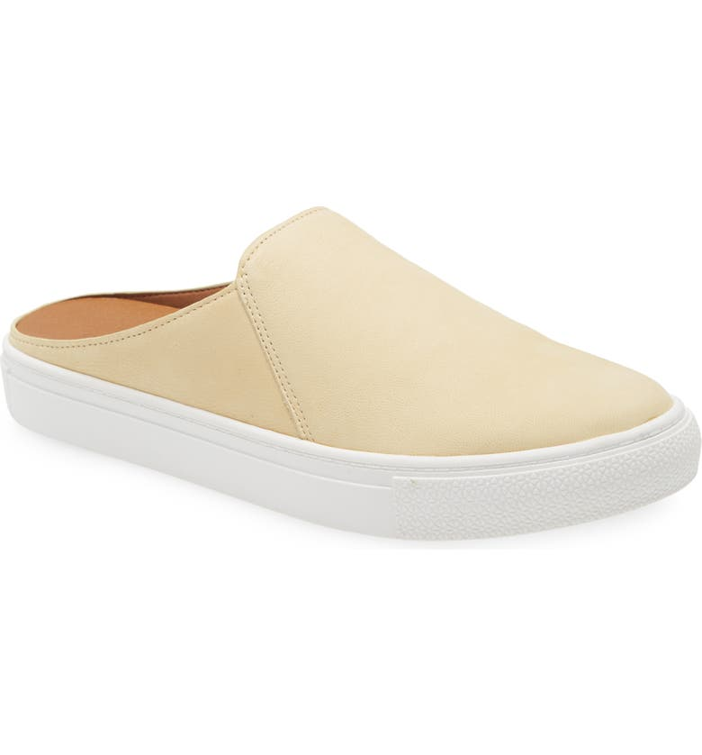CASLON<SUP>®</SUP> Nellie Suede Slip-On Sneaker Mule, Main, color, YELLOW CITRINE