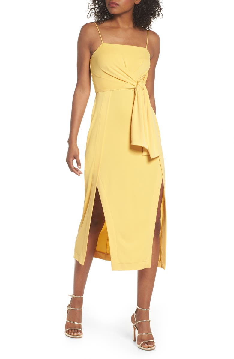C/MEO COLLECTIVE Recollect Slinky Side Tie Midi Dress, Main, color, 731