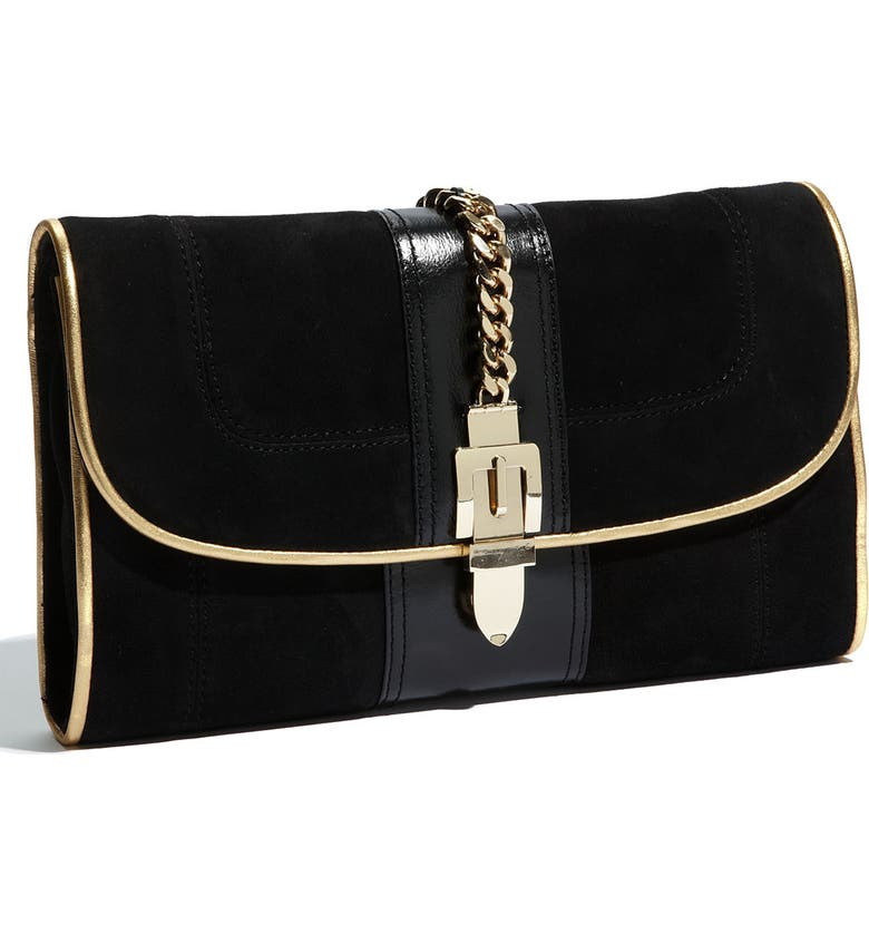 MILLY 'Victoria' Clutch, Main, color, BLACK/ GOLD