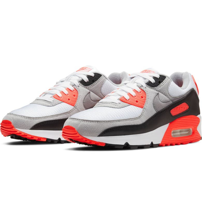 NIKE Air Max III Sneaker, Main, color, WHITE/ BLACK/ COOL GREY/ RED