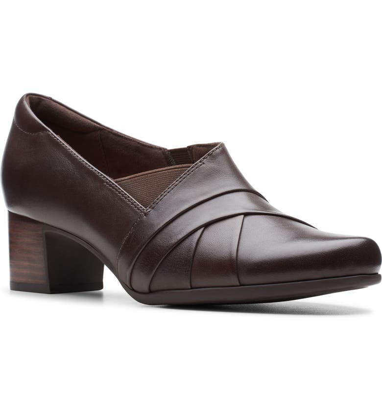 CLARKS<SUP>®</SUP> Un Damson Adele Pump, Main, color, BROWN LEATHER