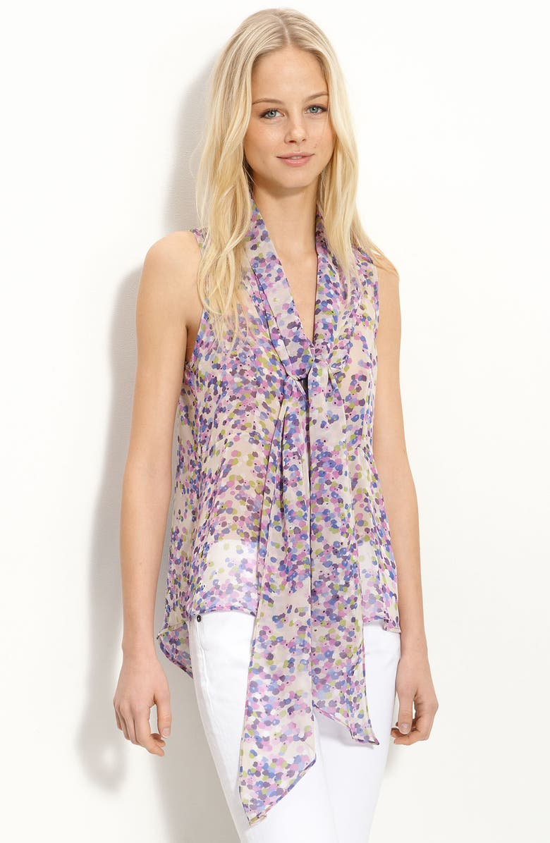 COLLECTIVE CONCEPTS Tie Neck Top, Main, color, 544