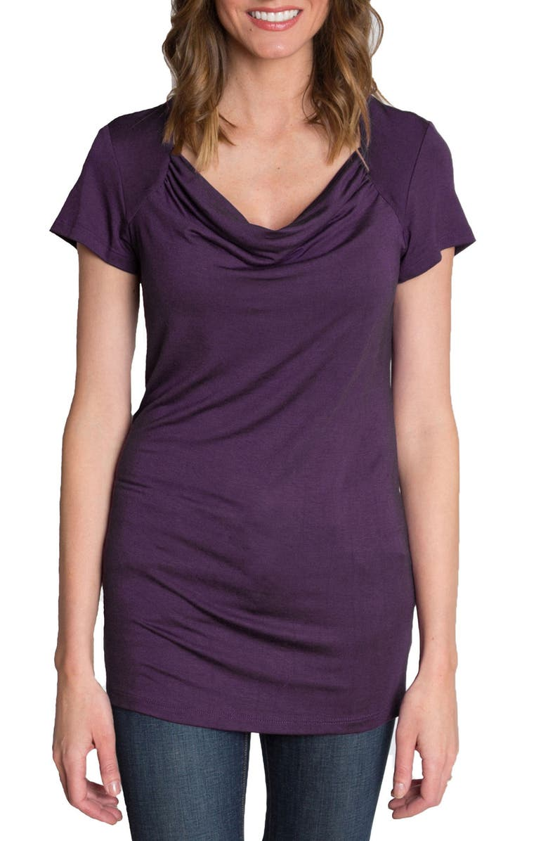 UDDERLY HOT MAMA 'Chic' Cowl Neck Nursing Tee, Main, color, 500