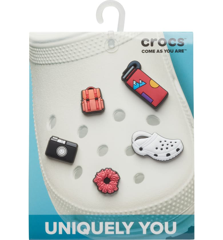 CROCS <sup>™</sup> Vacay Girl Assorted 5-Pack Jibbitz<sup>™</sup> Shoe Charms, Main, color, WHITE