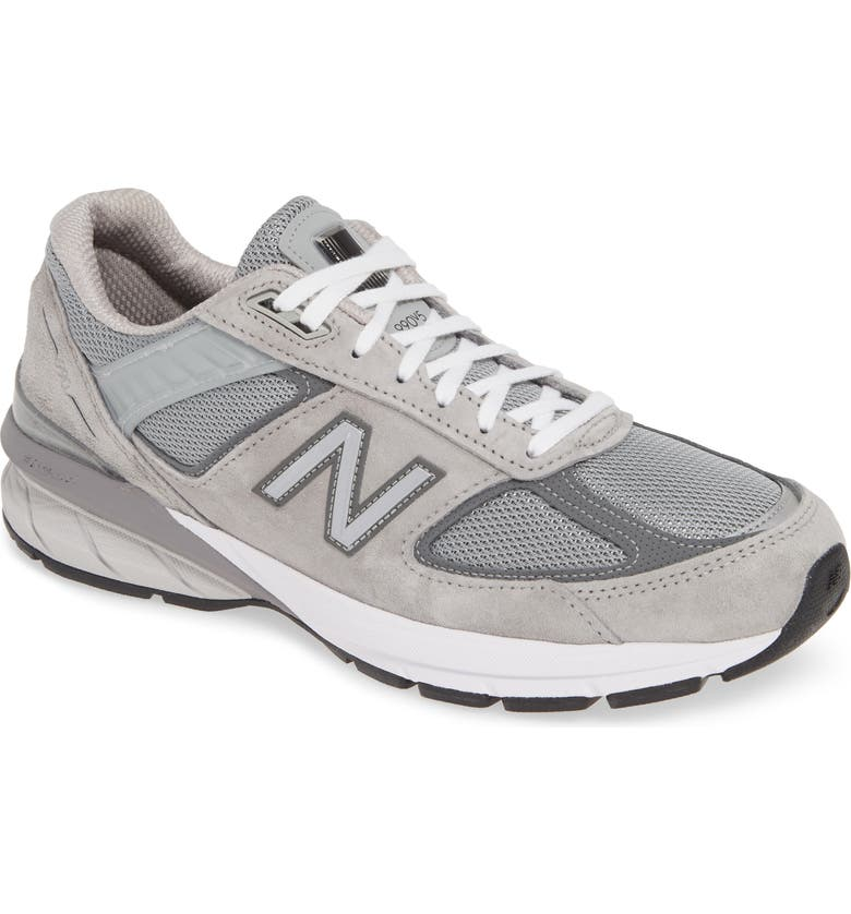 NEW BALANCE 990v5 Made in US Running Shoe, Main, color, COOL GREY