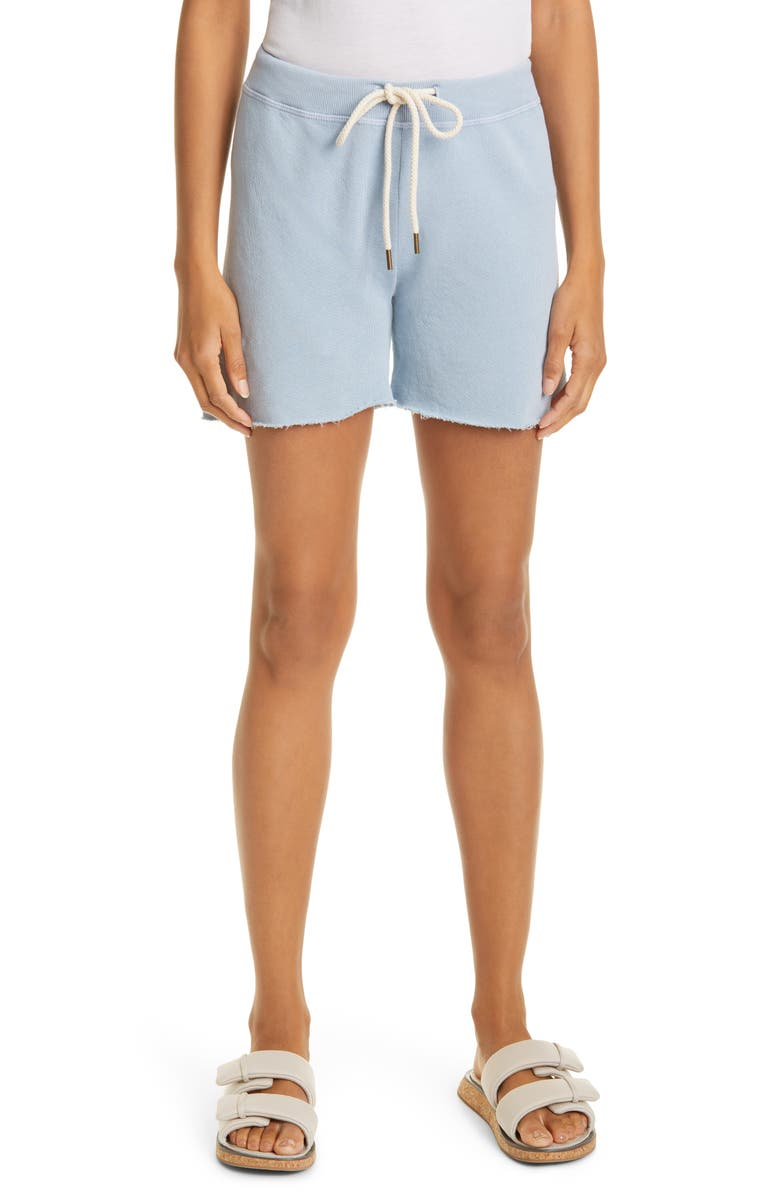 THE GREAT. The Sweat Shorts, Main, color, POWDER BLUE