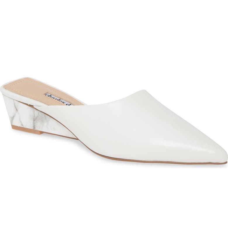 CHARLES DAVID Proven Mule, Main, color, WHITE LEATHER