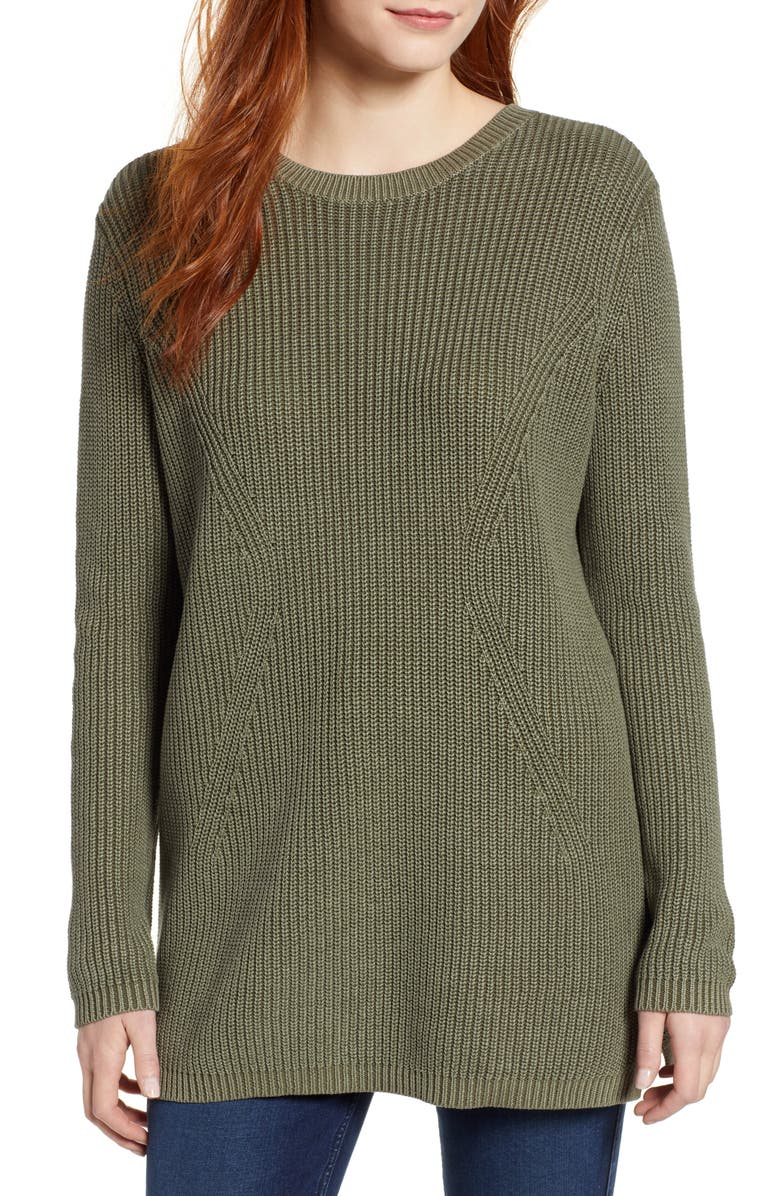 CASLON<SUP>®</SUP> Tie Back Tunic Sweater, Main, color, 301