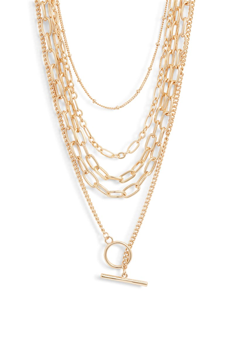 BP. x Claudia Sulewski Layered Chain Necklace, Main, color, 710