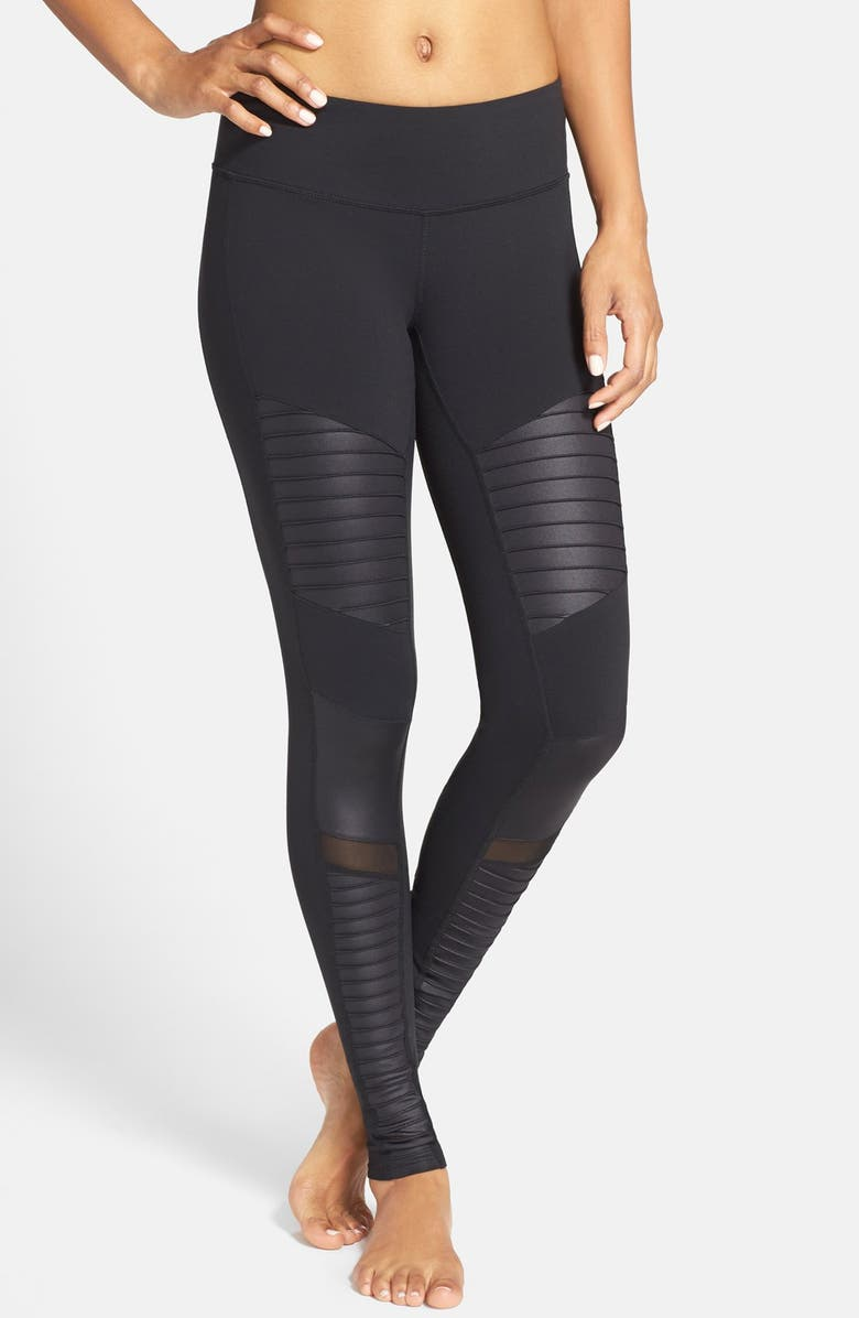 ALO Moto Leggings, Main, color, 001