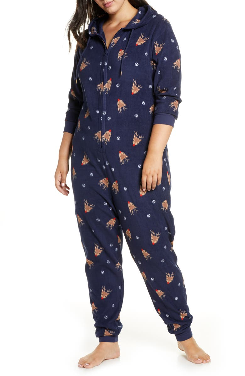 NORDSTROM Microfleece Sleep Romper, Main, color, 410