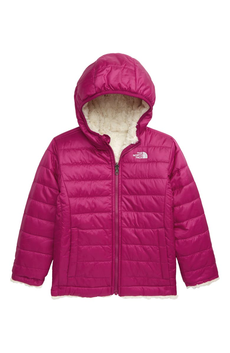 THE NORTH FACE Kids' Mossbud Swirl Reversible Water Repellent Hooded Jacket, Main, color, 501