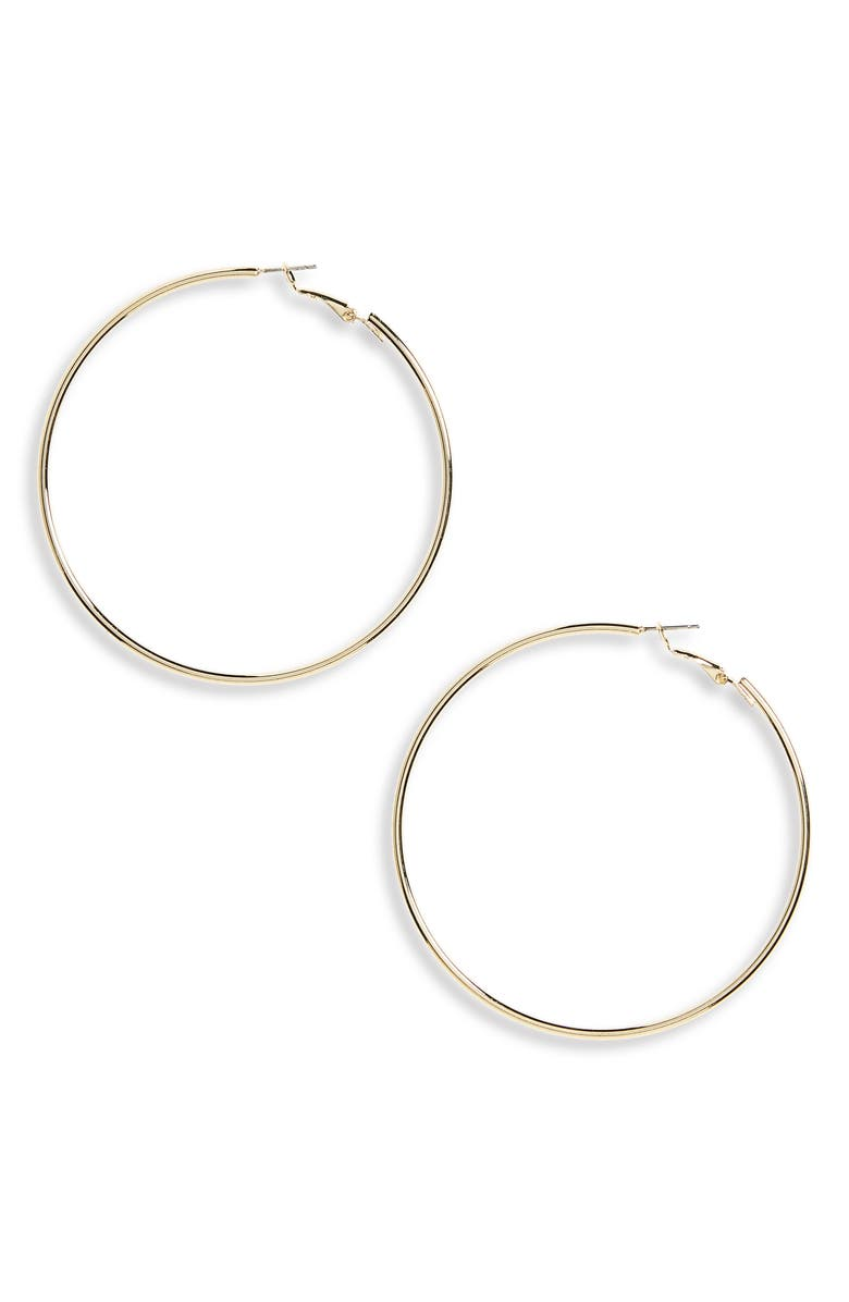 PANACEA Gold Hoop Earrings, Main, color, GOLD