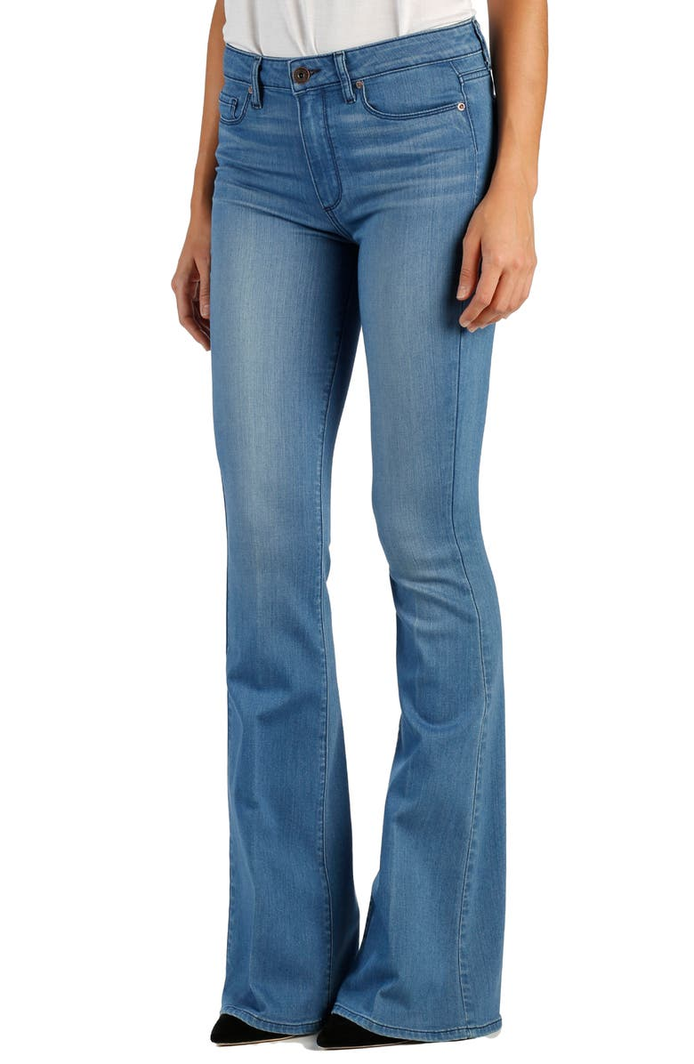 PAIGE Transcend - Bell Canyon High Waist Flare Jeans, Main, color, HARBOR