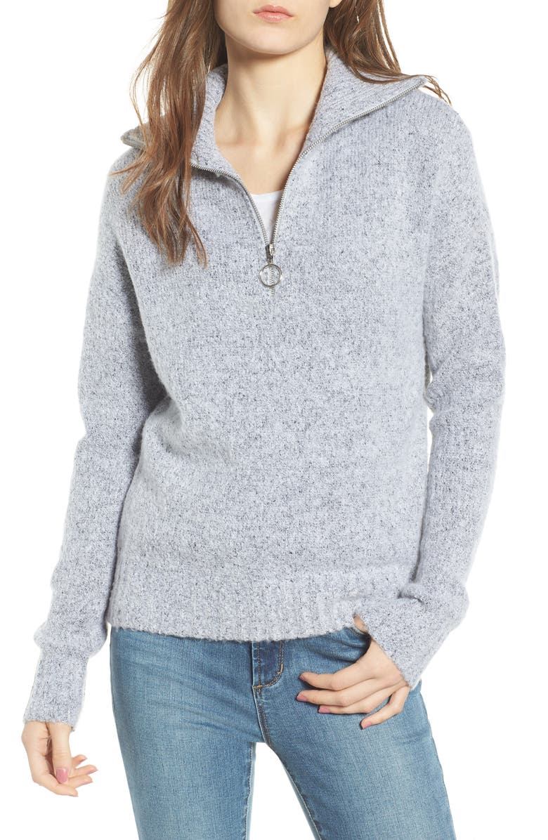 LOVE BY DESIGN Quarter Zip Sweater, Main, color, 020